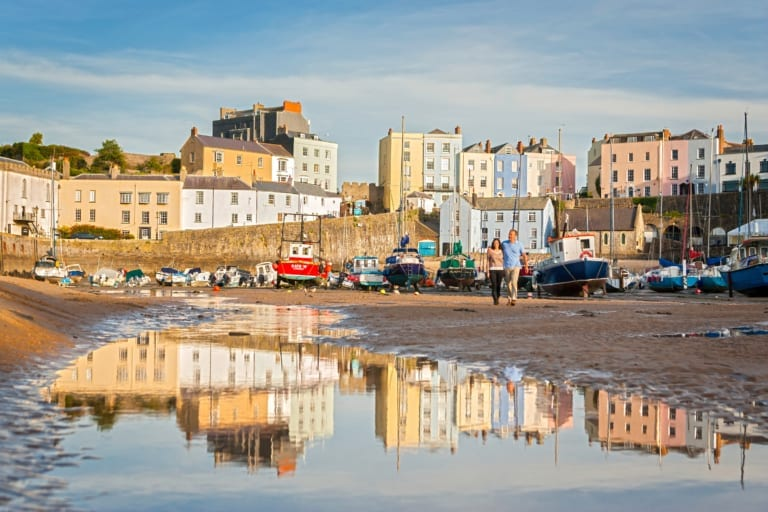 Wales Tenby harbour