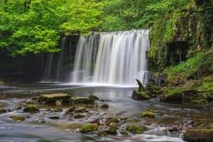 Wales Upper Ddwli Falls Brecon Beacons